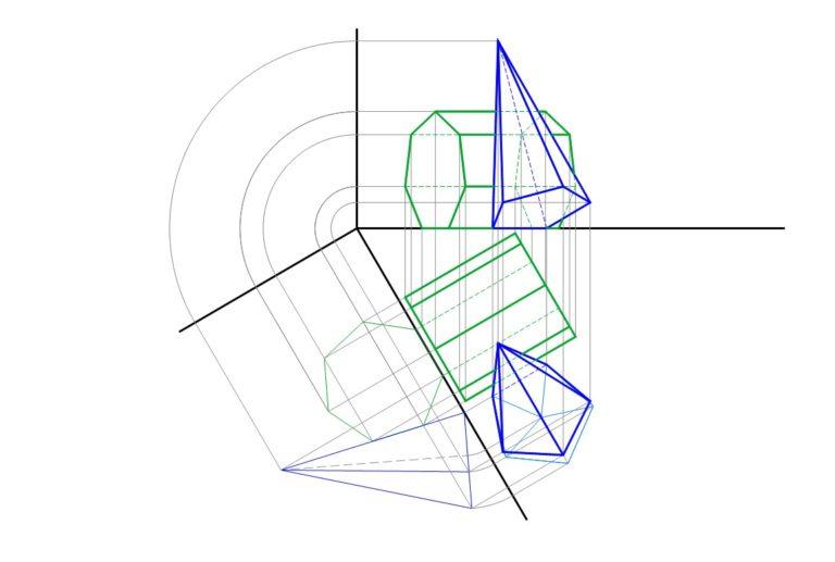 Metodo dei piani ausiliari prisma a base ettagonale e for Piani di cabina di base di base